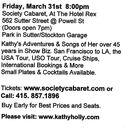 Picture Kathy Holly, Society Cabaret, Sold Out Performance